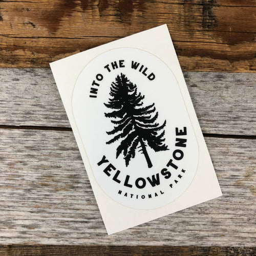 Surf Wyoming-YELLOWSTONE COLLECTION - Into The Wild Sticker-