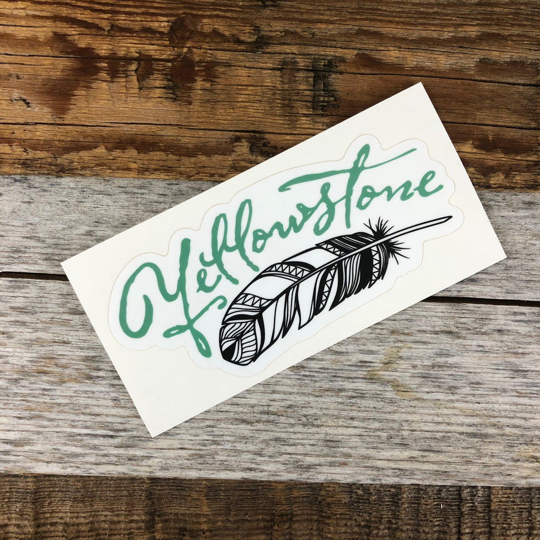 Surf Wyoming-YELLOWSTONE COLLECTION - Yellowstone Feather Sticker-