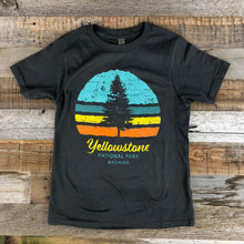 Load image into Gallery viewer, Surf Wyoming-Youth YELLOWSTONE x SW COLLECTION YNP Tee - Charcoal-