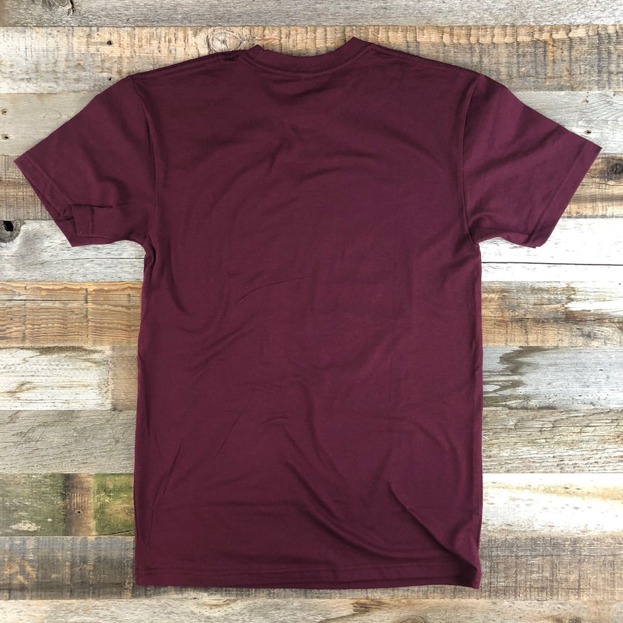 Men's YELLOWSTONE COLLECTION YNP Tee - Maroon