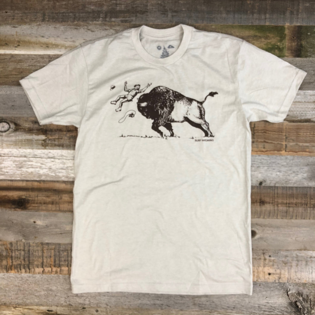 Surf Wyoming-Men's SURF WYOMING® America's Petting Zoo! Tee - Sand-