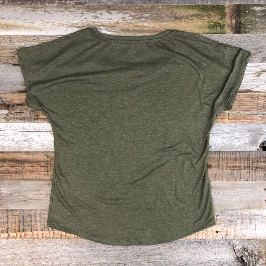 Women's SURF WYOMING®  Explore & Restore Flow Tee - Military Green