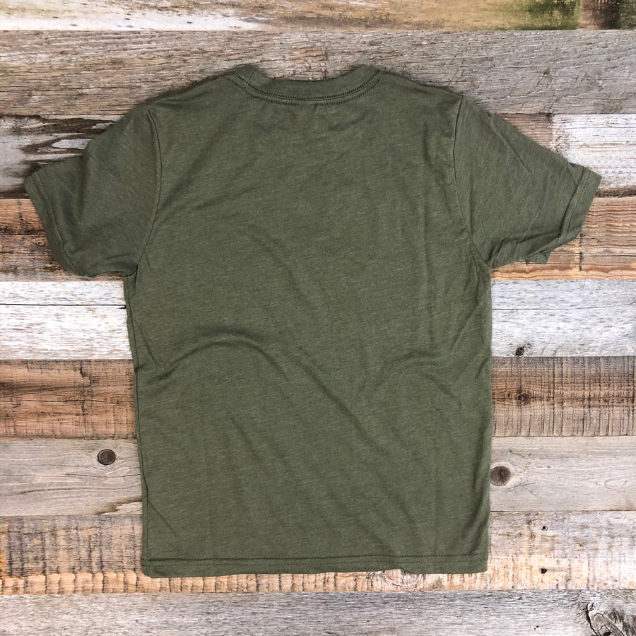 Youth SURF WYOMING® America's Petting Zoo! Tee - Military Green