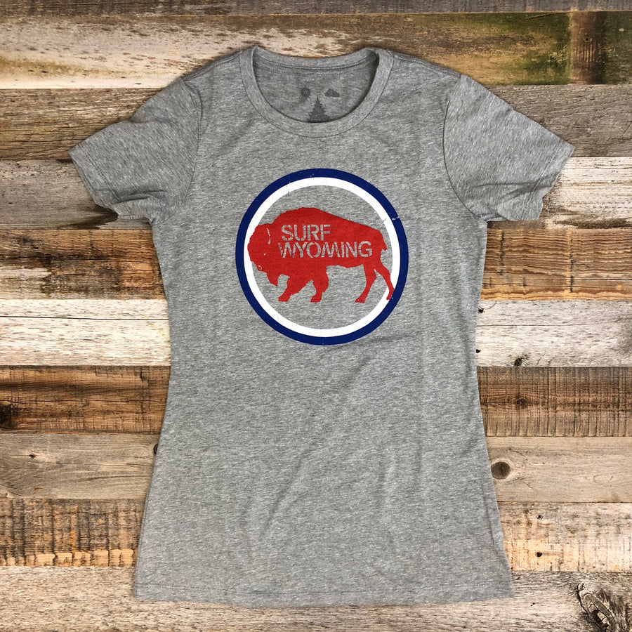Women's SURF WYOMING® National 2.0 Tee- Heather Grey