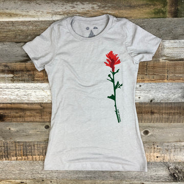 Women's INDIAN PAINTBRUSH Tee- Sand RED BISON COLLAB**