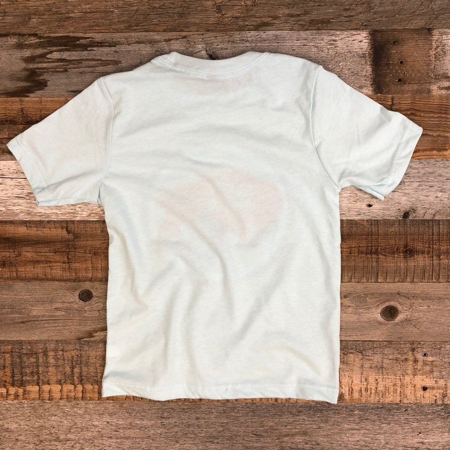 Youth SURF WYOMING NATIONAL 2.0 Tee - Ice Blue