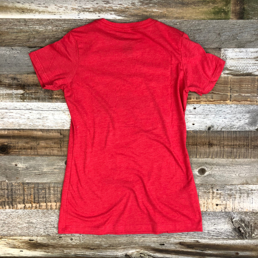 Women's SURF WYOMING®  Censored Tee - Cherry Red