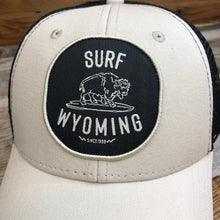 Load image into Gallery viewer, Surf Wyoming® Hang Twenty Vintage Bison Patch Trucker Hat - Stone