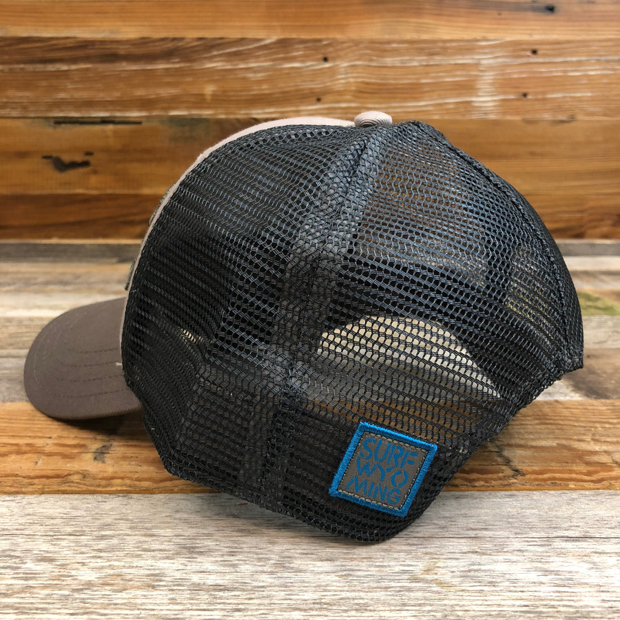 Surf Wyoming® Bison Peak Trucker Hat - Steel/Charcoal