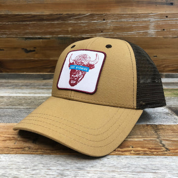 Surf Wyoming® Censored Trucker Hat - Latte/Brown