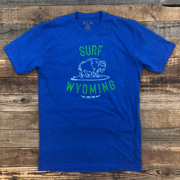 Men's SURF WYOMING® Hang Twenty Tee- Royal Blue