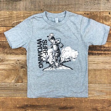 Surf Wyoming® Youth GAS HOLE Tee - Heather Grey