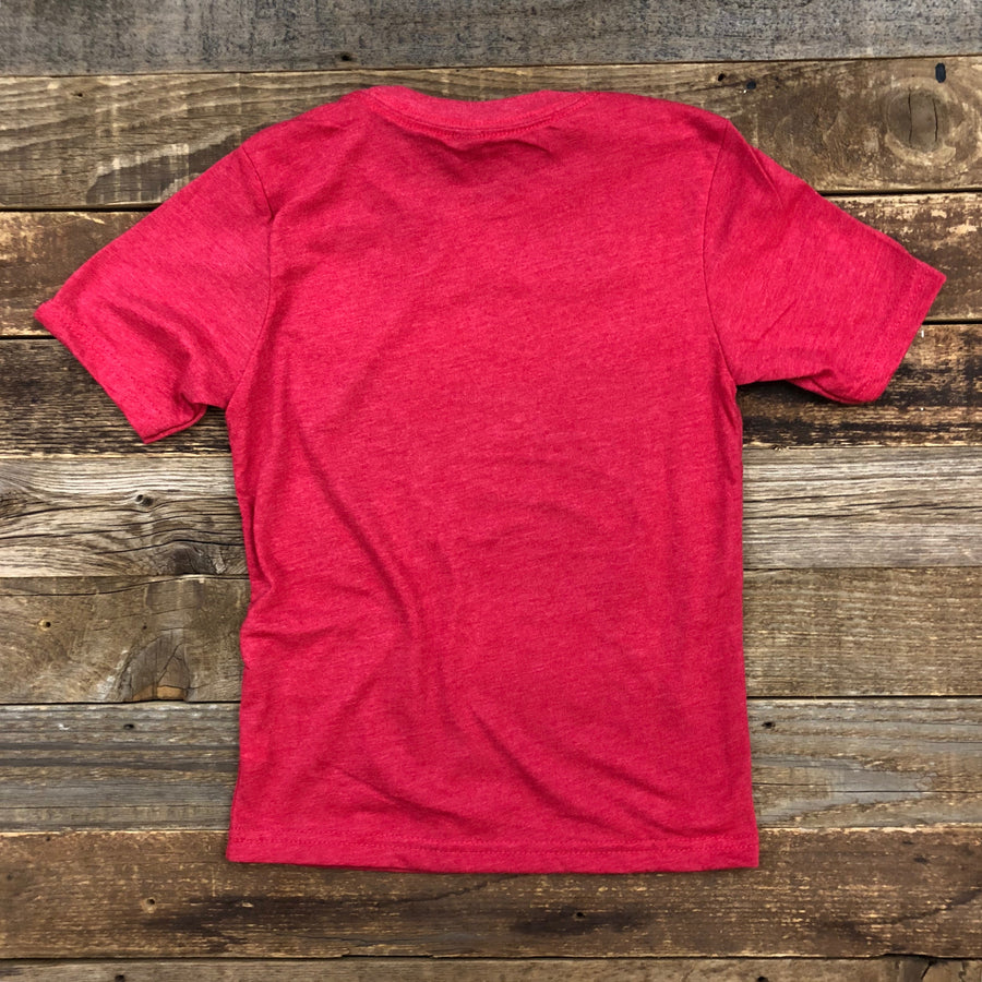 Youth BISON QUIVER Tee - Cherry