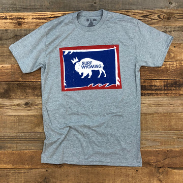 Men's SURF WYOMING®  Foam State Tee - Heather Grey