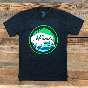 Men's SURF WYOMING® First Park Tee - Charcoal