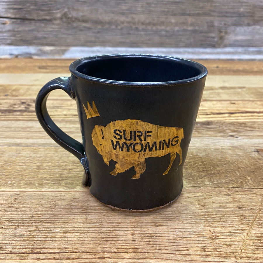 KING BISON HANDMADE WYOMING MUG - BLACK•GOLD