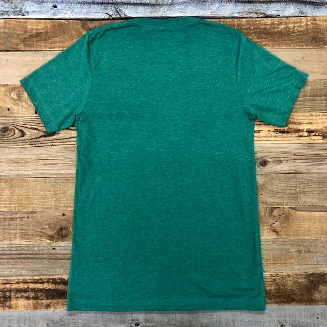 Men's SURF WYOMING® Bison Logo Tee - Two Toned Heather Green