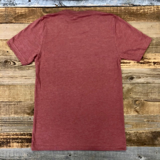 Men's SURF WYOMING® Bison Logo Tee - Heather Clay