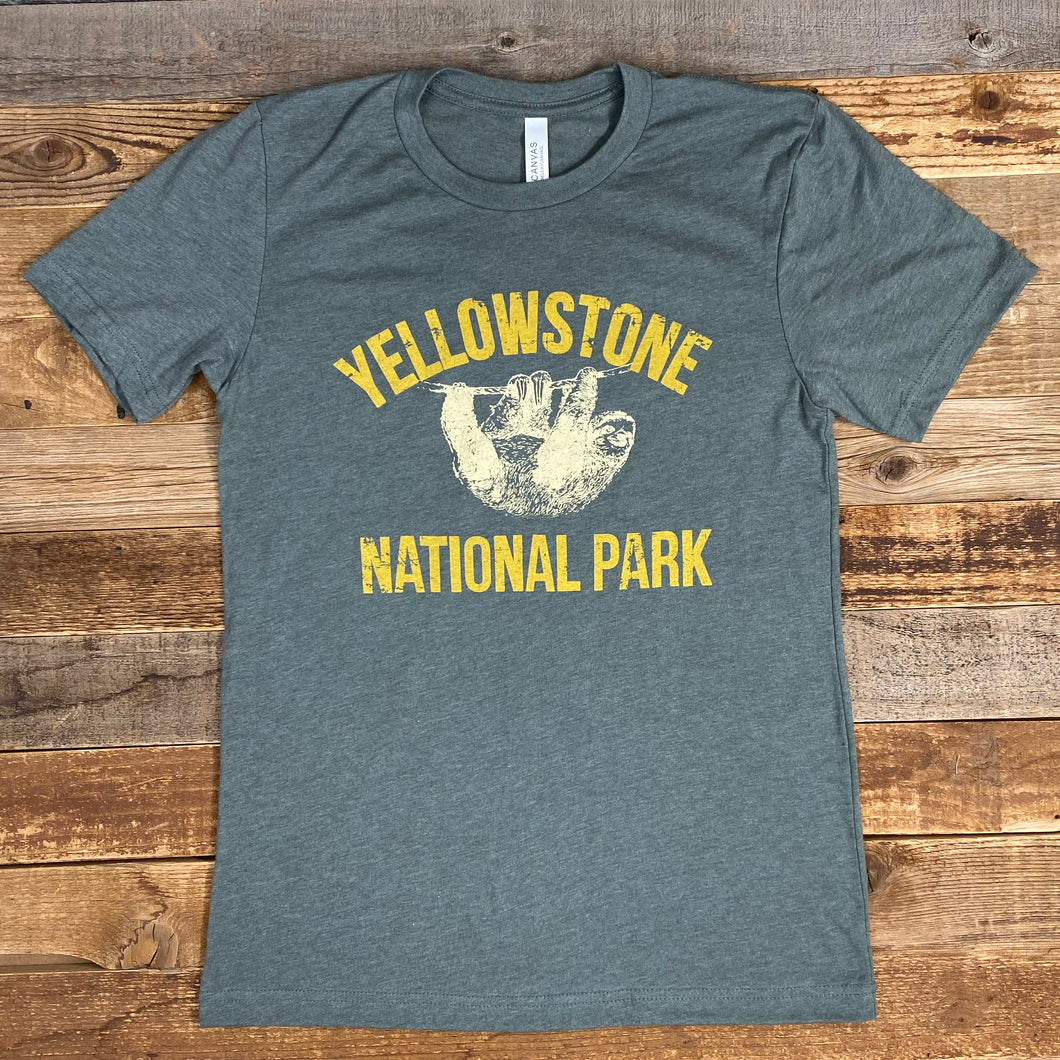 Men's Yellowstone Sloth Tee - Heather Military