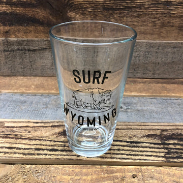 Surf Wyoming® HANG TWENTY Pint - Black