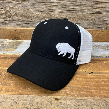 First Park Bison Trucker Hat - Felt •• JET BLACK