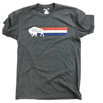Men's SURF WYOMING® Vintage Wyomerica Tee - Charcoal