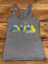 Load image into Gallery viewer, Surf Wyoming-Women's Surf Wyoming®RANGIN' Racerback Tank- Grey-
