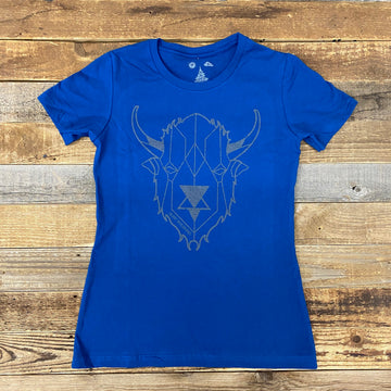 Women's Digi Bison Tee - Royal
