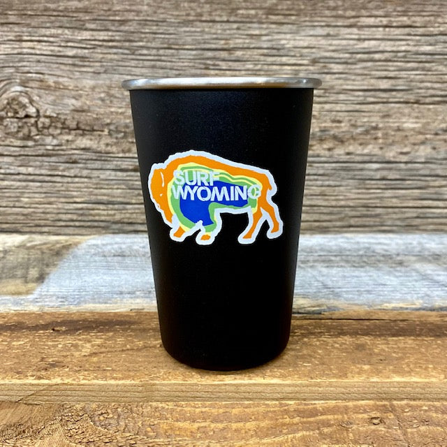 16oz Stainless Steel Bison Camp Pint - Prismatic Bison