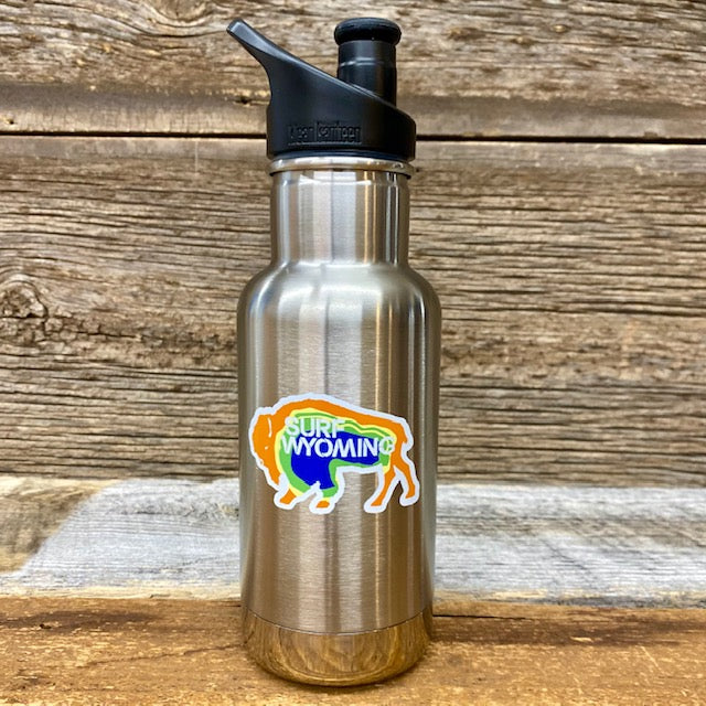 Insulated Kids 12oz. Surf Wyoming x Klean Kanteen - Bison Prismatic