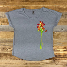 Load image into Gallery viewer, Women's Indian Paintbrush Dolman Tee - Grey