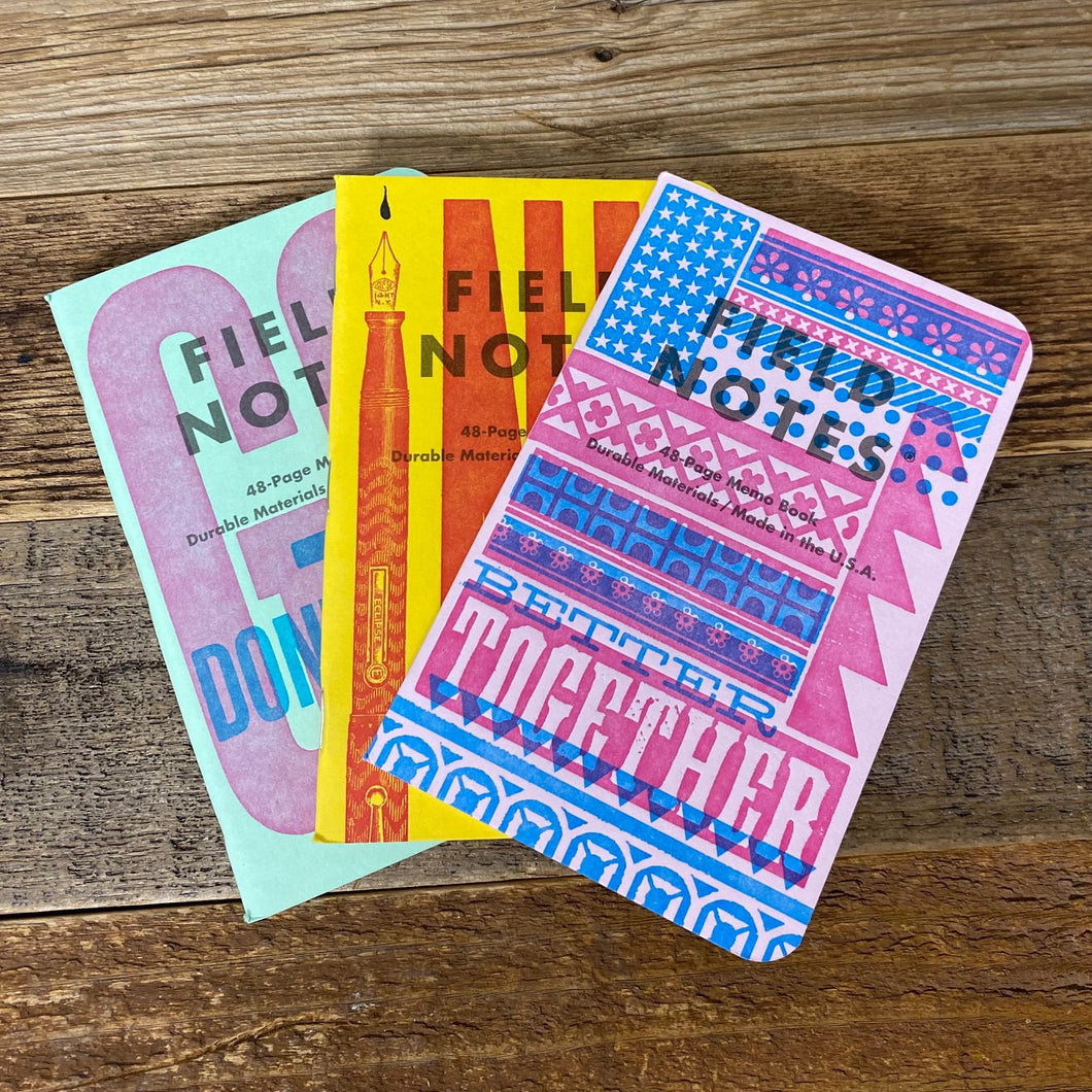 Field Notes Letterpress Series B - 3-Pak
