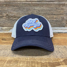 Load image into Gallery viewer, Soda Script Trucker Hat - Navy