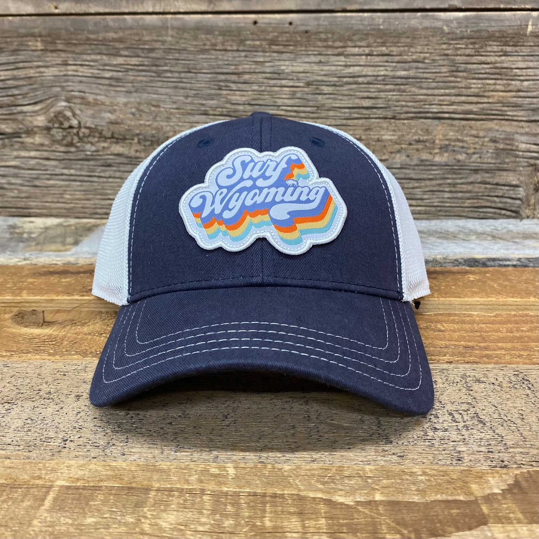 Soda Script Trucker Hat - Navy