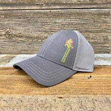 Load image into Gallery viewer, Indian Paintbrush Trucker Hat - Grey