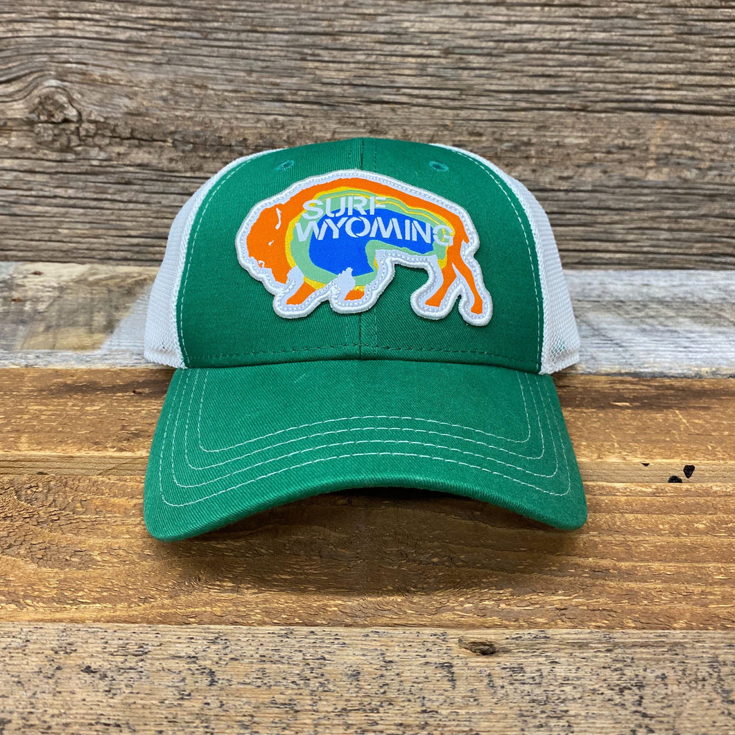 Surf Wyoming-Prismatic Bison Hat - Green-