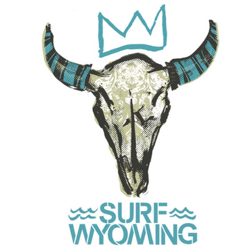 Surf Wyoming® King + Queen Bones Sticker