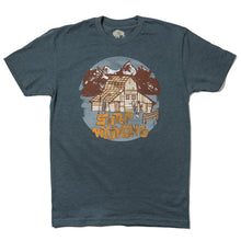 Load image into Gallery viewer, Surf Wyoming-Men's Barn Tee - Indigo-