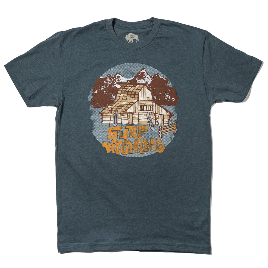 Men's SURF WYOMING® Barn Tee- Indigo