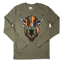Load image into Gallery viewer, Surf Wyoming-Men's Digi Bison Long Sleeve - Military Green-