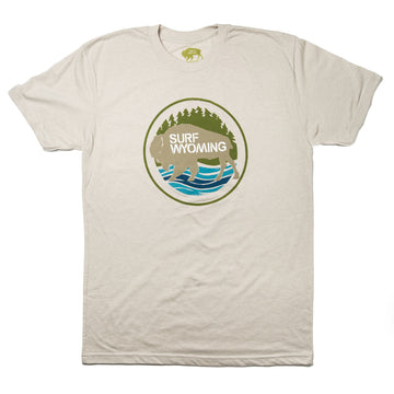 Men's SURF WYOMING® First Park tee - Rock Dust