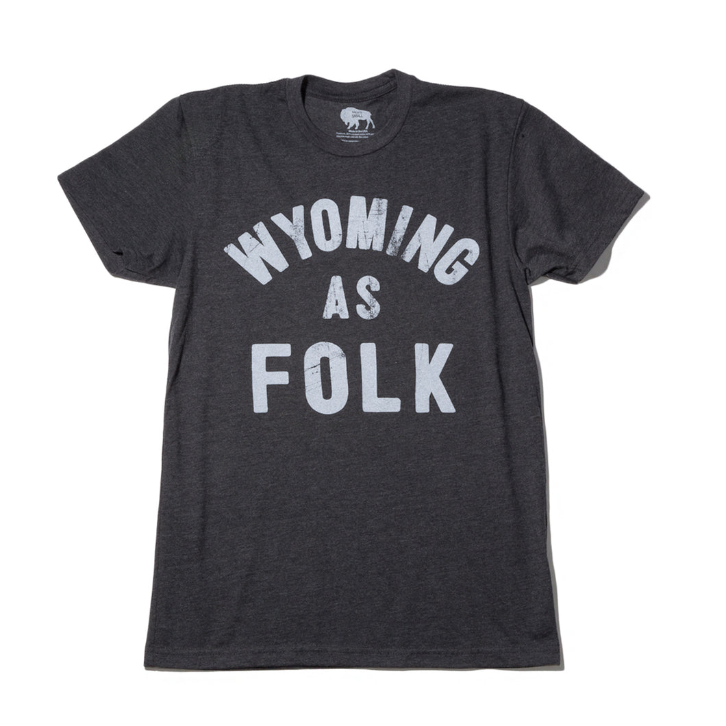Surf Wyoming-Men's SURF WYOMING® Wyoming As Folk Tee - Charcoal-