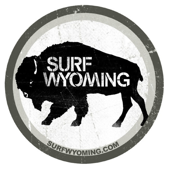 Surf Wyoming® National 2.0 Sticker - Black & White