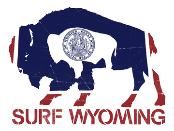 Surf Wyoming® Flag Bison Sticker