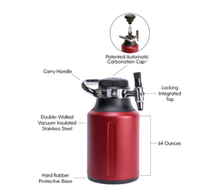 Load image into Gallery viewer, uKeg GO 64oz Growler - Bison Red