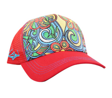 Load image into Gallery viewer, Surf Wyoming-SACRED Surf Trucker - Aloha Bus - Red-