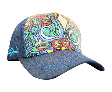 SACRED Surf Trucker - Aloha Bus - Denim