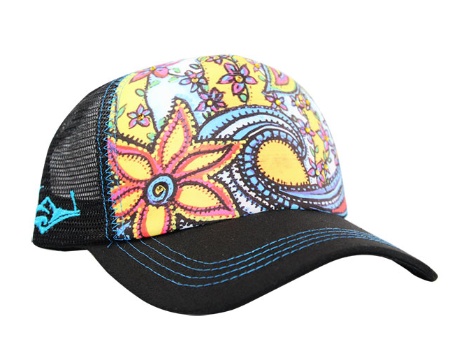 SACRED Surf Trucker - Waveflower - Black