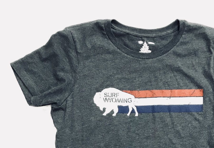 Women's Surf Wyoming® Vintage Wyomerica Tee - Charcoal