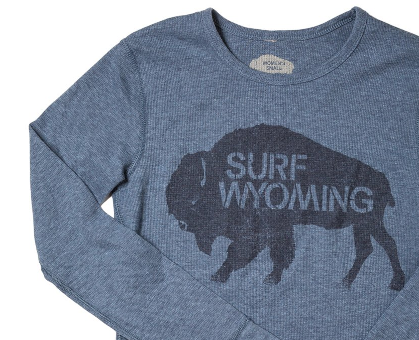 Women's Surf Wyoming® Thermal Long Sleeve - Denim Blue